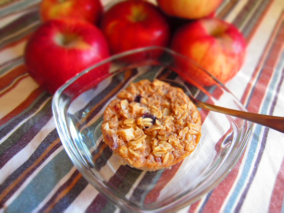 Nutty Apple Oatmeal Bake