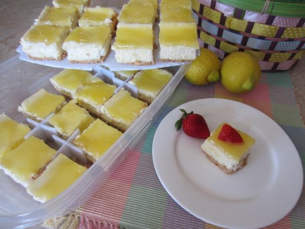 SweetStackers Double Lemon Cheesecake Bars